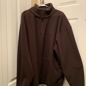 2X XXL Nautica Dark Brown fleece 1/4 Zip NICE!